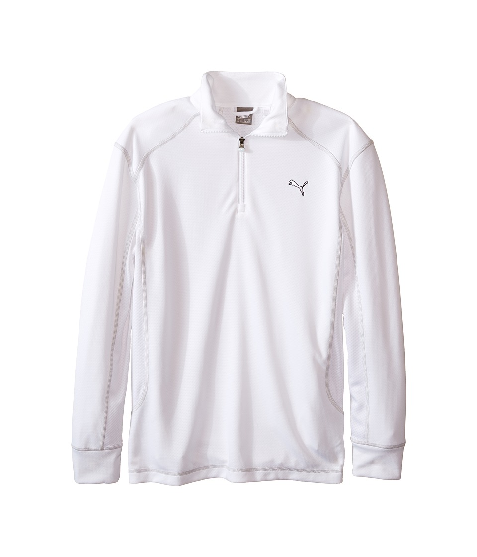 PUMA Golf Kids Golf L/S 1/4 Zip Top Big Kids Bright White Boys Long Sleeve Pullover