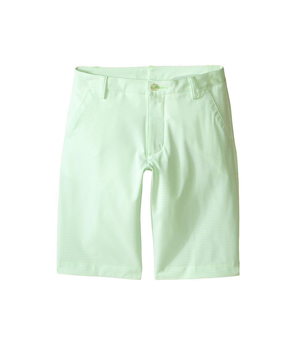 PUMA Golf Kids Stripe It Shorts Big Kids Green Gecko Boys Shorts