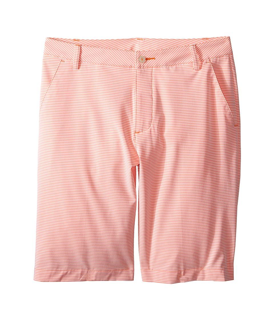 PUMA Golf Kids Stripe It Shorts Big Kids Vibrant Orange Boys Shorts