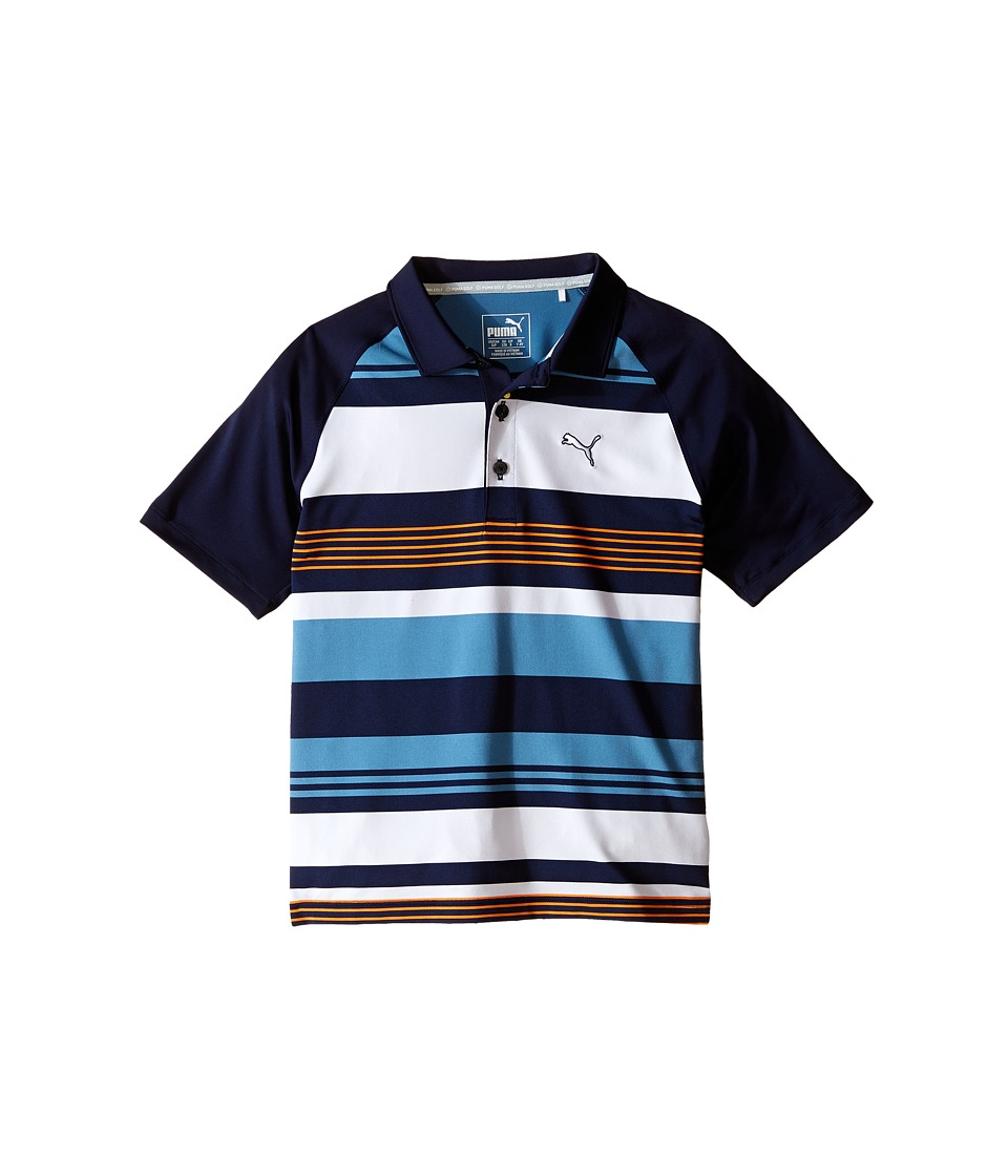 PUMA Golf Kids Roadmap Polo JR Big Kids Peacoat Boys Clothing