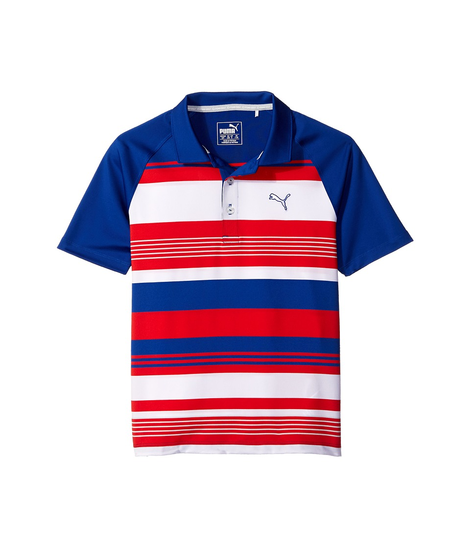 PUMA Golf Kids Roadmap Polo JR Big Kids Surf The Web Boys Clothing