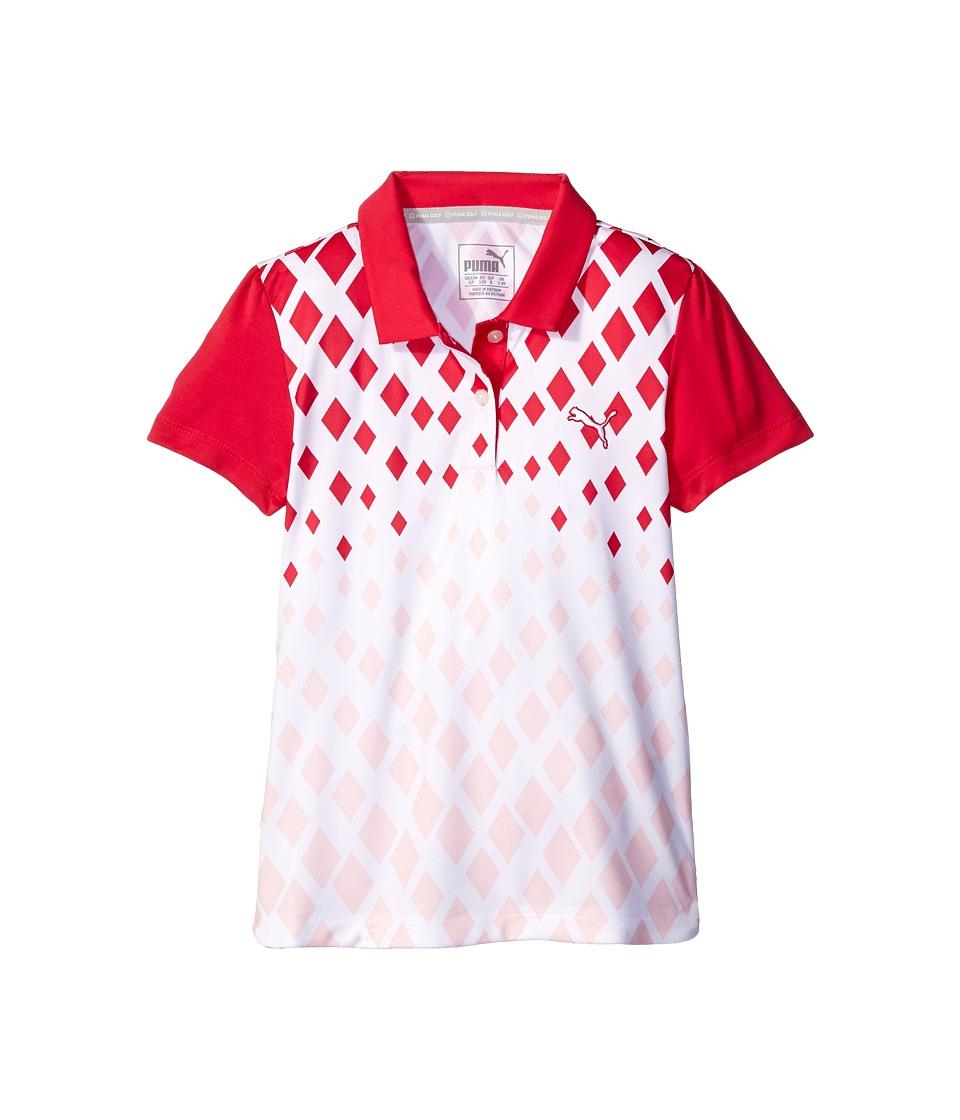 PUMA Golf Kids Diamond Print JR Little Kids/Big Kids Rose Red Girls Clothing