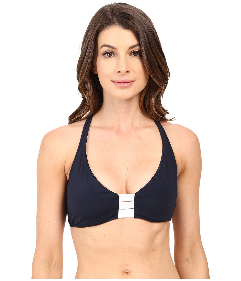 Seafolly Block Party D Cup Halter Top (Indigo) Women