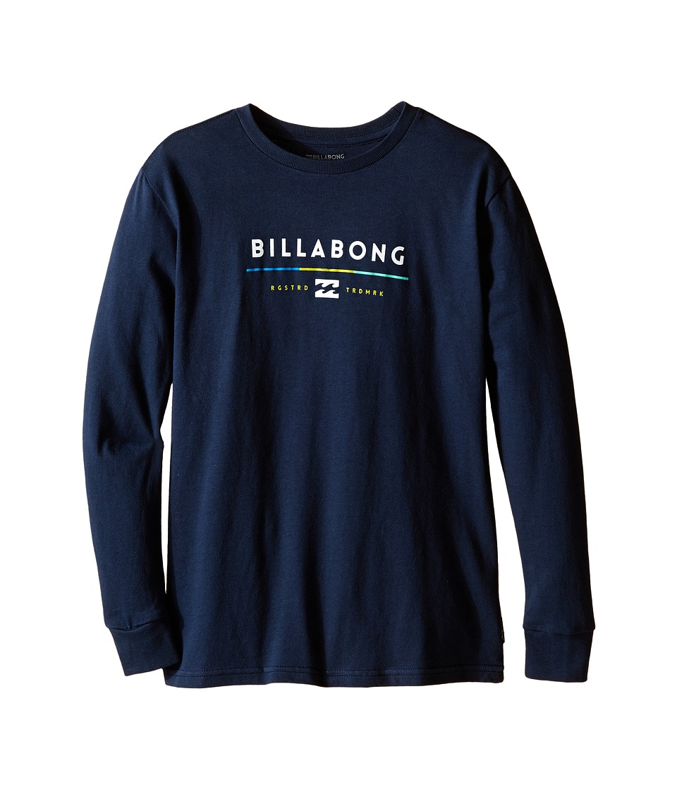 Billabong Kids - Tri-Unity Long Sleeve Tee (Big Kids) (Navy) Boy