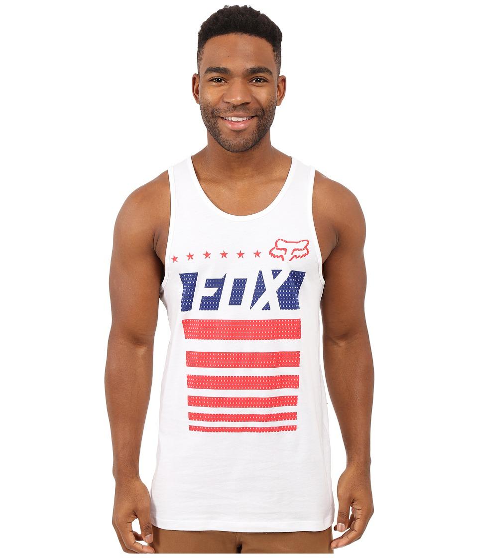 Fox Red White and True Tank Top Optic White Mens Sleeveless
