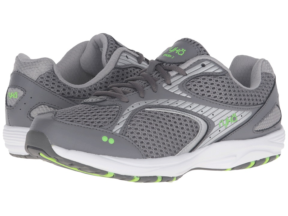 Ryka Dash 2 (Steel Grey/Chrome Silver/Electric Lime) Women's Shoes