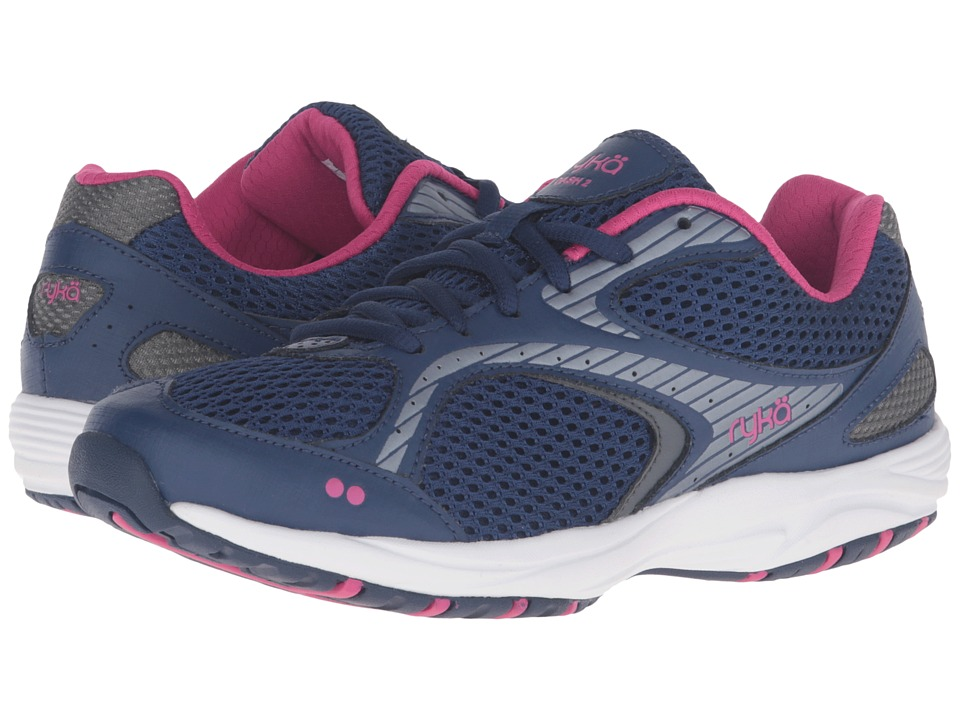 Ryka Dash 2 (Jet Ink Blue/Meteorite/Fuchsia Purple) Women's Shoes