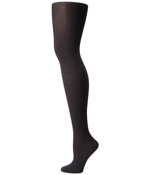 Wolford Superfine Cotton Rib Tights - Anthracite
