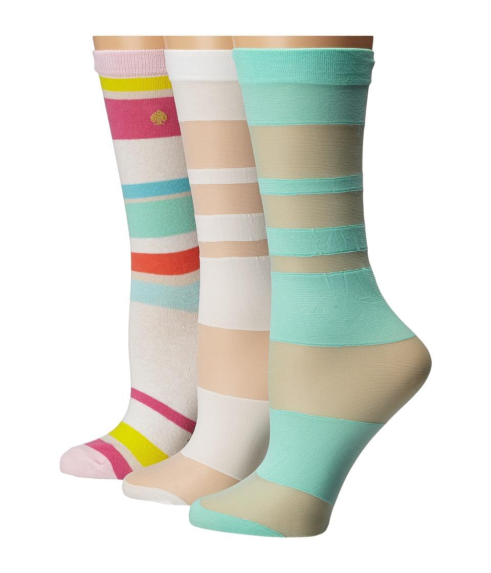Kate Spade New York - 3-Pack Trouser Socks (Multi) Women