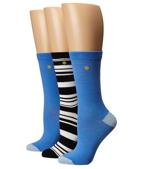 Kate Spade New York 3-Pack Trouser Socks - Blue/Black