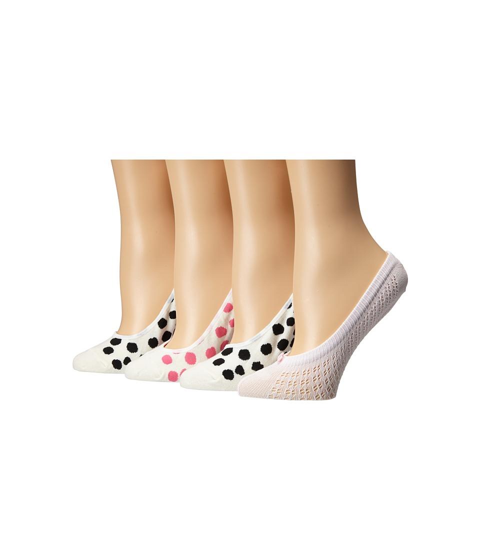 Kate Spade New York - 4-Pack Liner Socks (Cream) Women