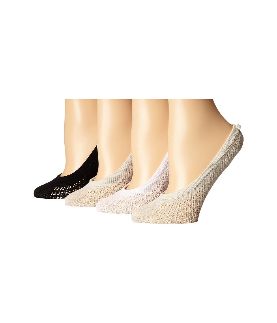 Kate Spade New York - 4-Pack Liner Socks (Light Beige) Women