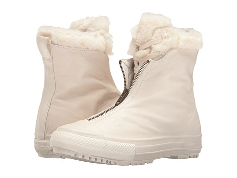 Converse Chuck Taylor® All Star® Shroud Leather + Fur Hi-Rise Boot - Parchment/Egret/Egret