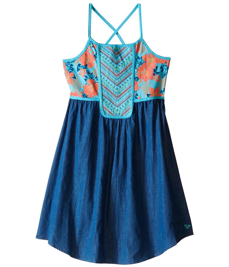 Roxy Kids Pacific Rim Dress Big Kids Blue Curacao Girls Dress
