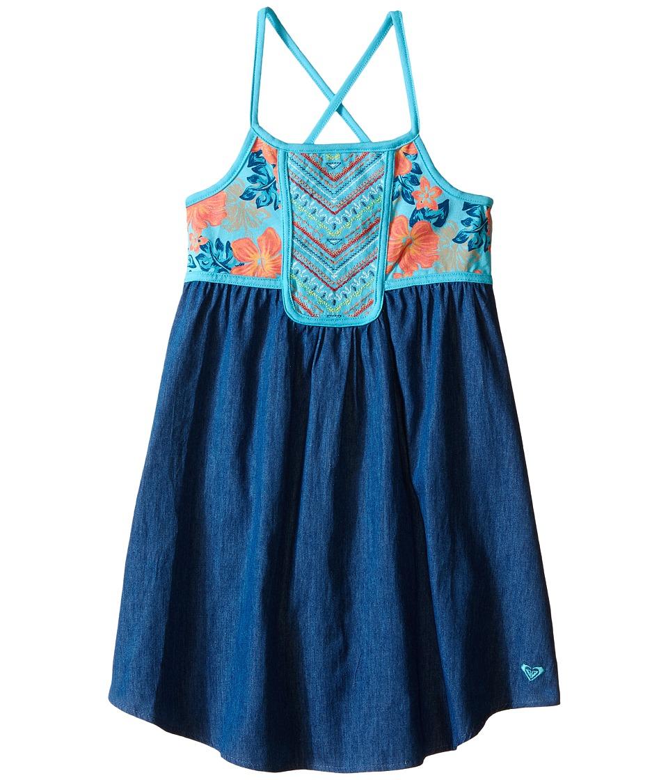 Roxy Kids Pacific Rim Dress Toddler/Little Kids Blue Curacao Girls Dress