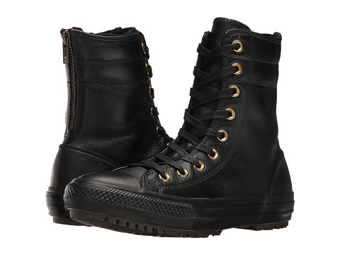 Converse Chuck Taylor® All Star® Leather + Fur Hi-Rise Boot XHi - Black/Black/Black