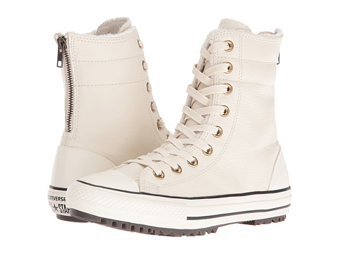 Converse Chuck Taylor® All Star® Leather + Fur Hi-Rise Boot XHi - Parchment/Black/Egret
