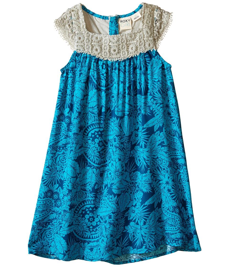 Roxy Kids Oceanic Dress Toddler/Little Kids Moroccan Blue Girls Dress