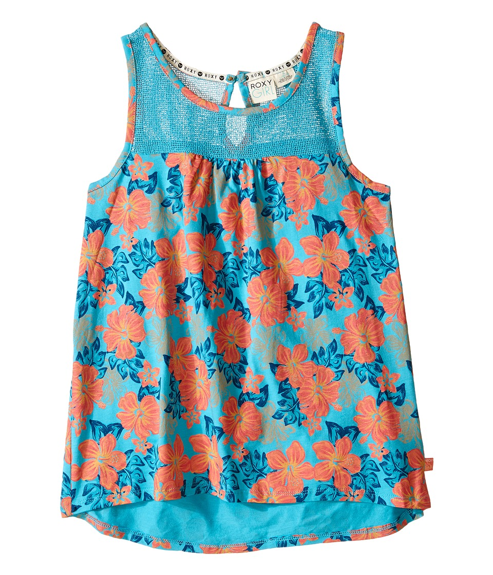 Roxy Kids Aussie Tank Top Big Kids Blue Curacao Girls Sleeveless