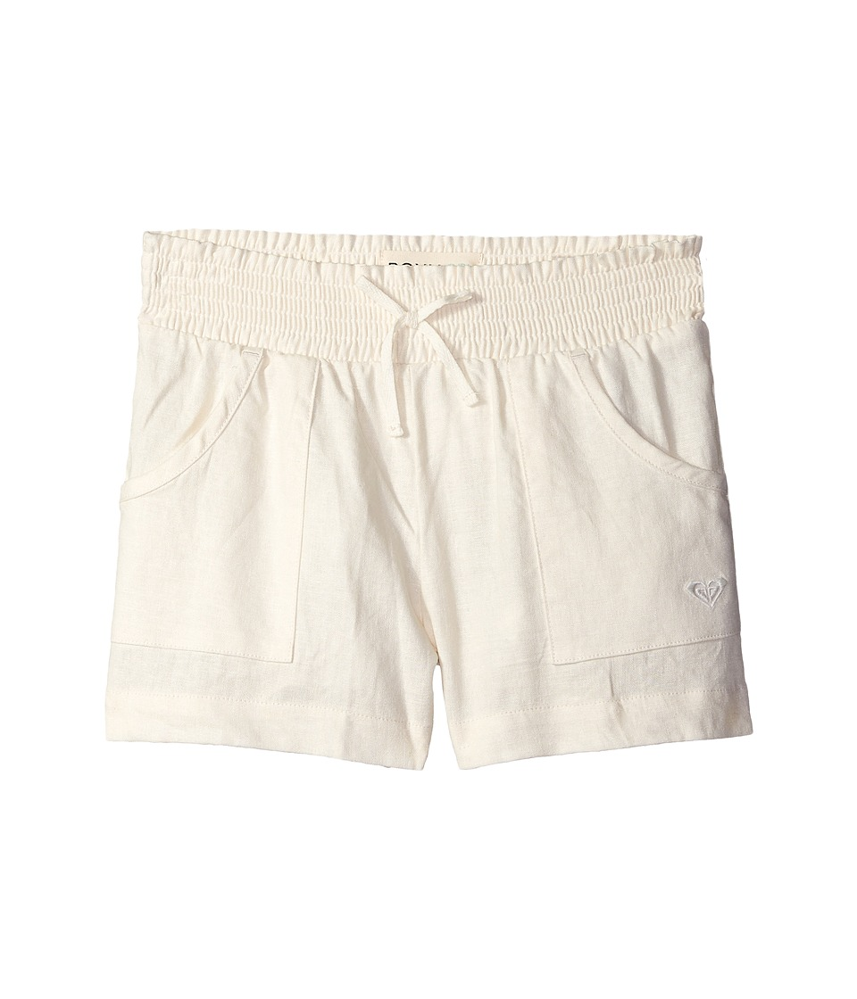 Roxy Kids Beach Comber Shorts Big Kids Natural Linen Girls Shorts