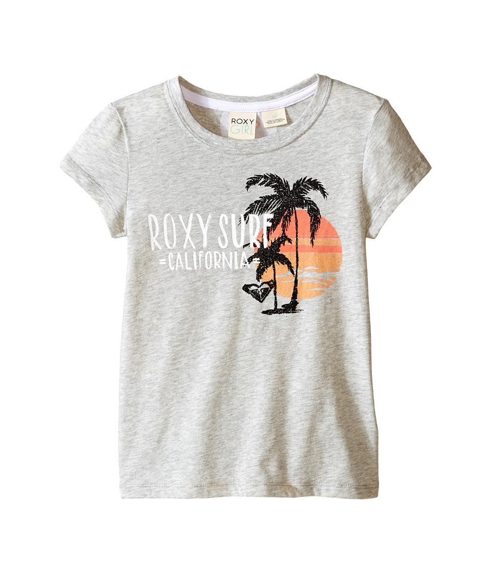 Roxy Kids Cali Beach Short Sleeve Tee Toddler/Little Kids Medium Heather Girls T Shirt
