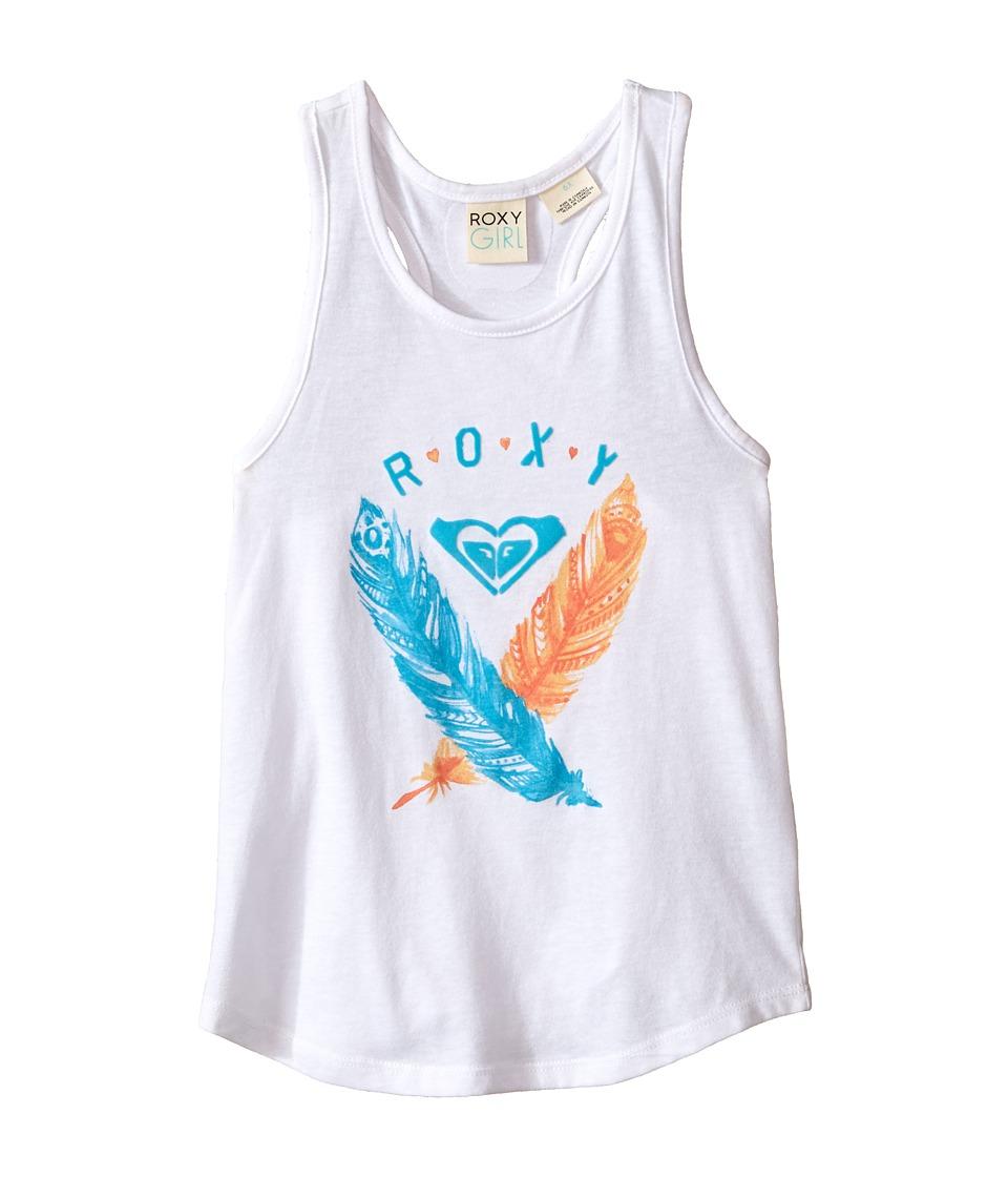 Roxy Kids Sun Time Tank Top Toddler/Little Kids Seal Salt Girls Sleeveless