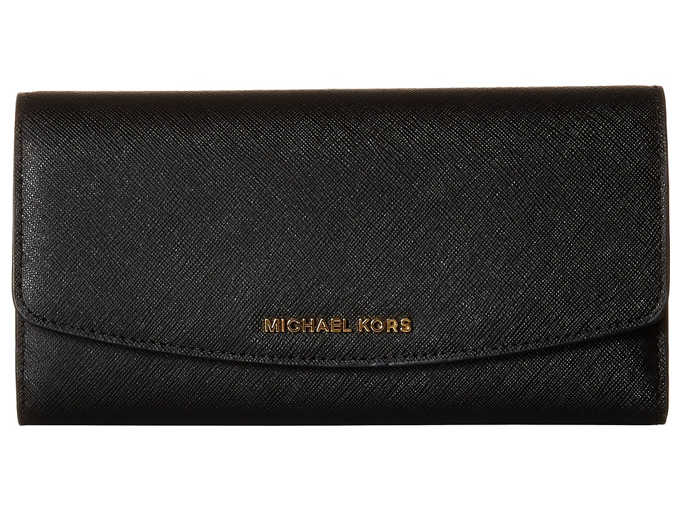 MICHAEL Michael Kors - Ava Large Trifold Wallet (Black) Wallet Handbags