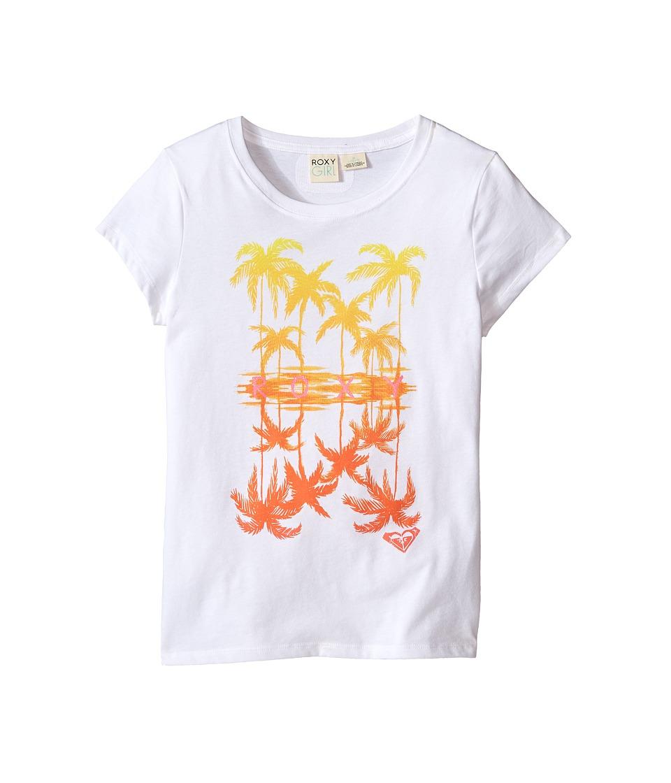 Roxy Kids Wild Reflections Short Sleeve Tee Big Kids Seal Salt Girls T Shirt