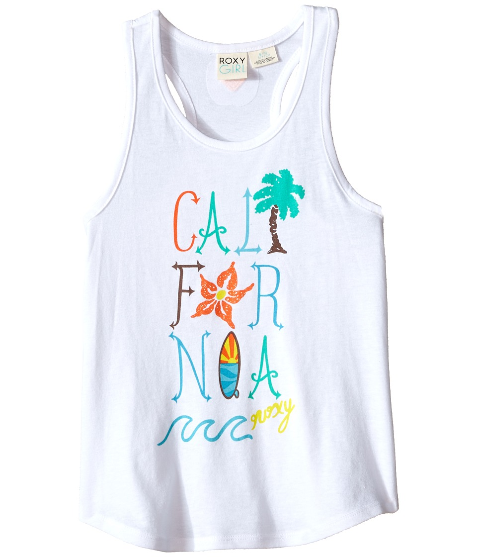 Roxy Kids Cali Wave Tank Top Big Kids Seal Salt Girls Sleeveless
