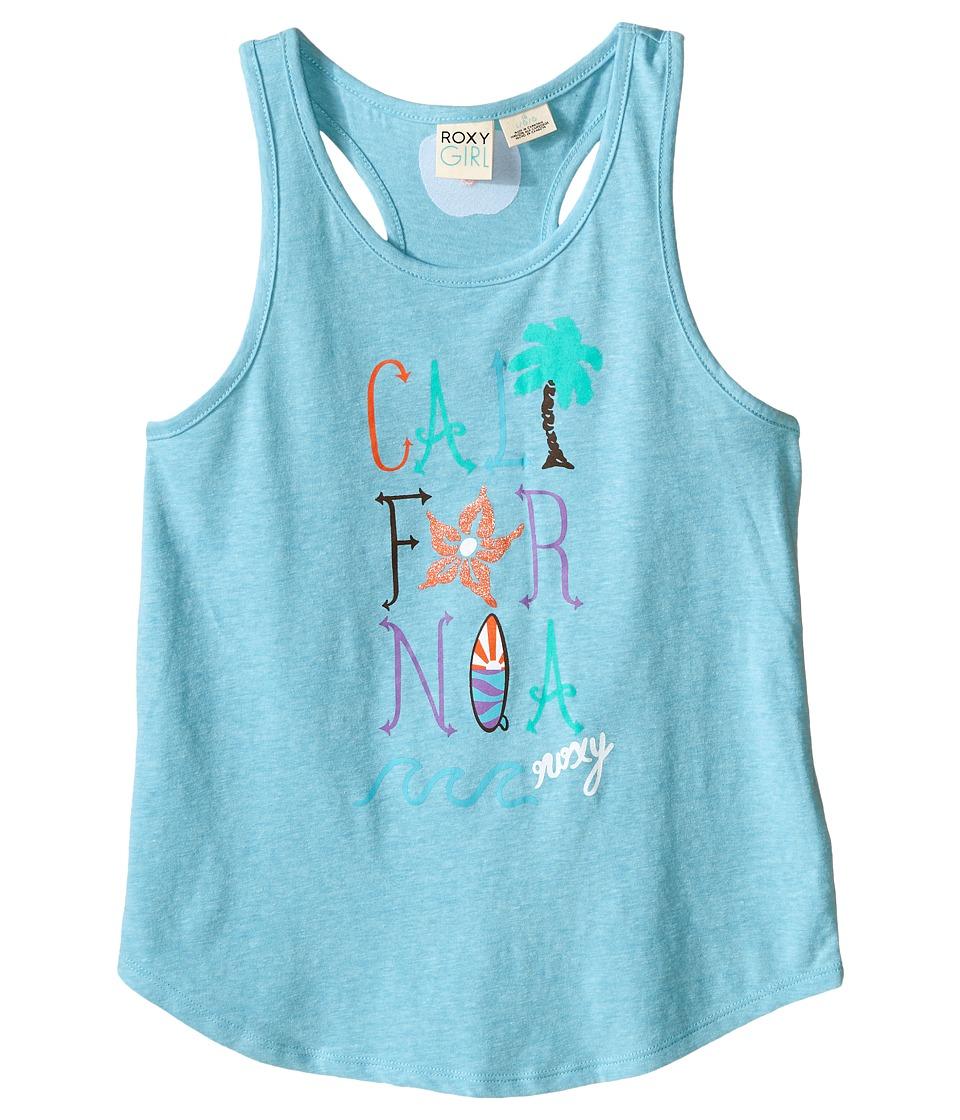 Roxy Kids Cali Wave Tank Top Big Kids Blue Curacao Girls Sleeveless