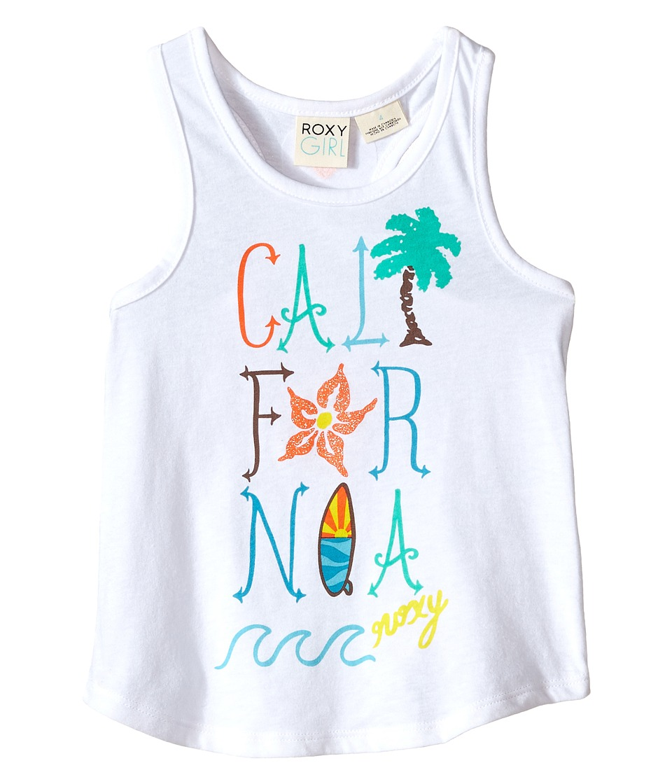Roxy Kids Cali Wave Tank Top Toddler/Little Kids Seal Salt Girls Sleeveless