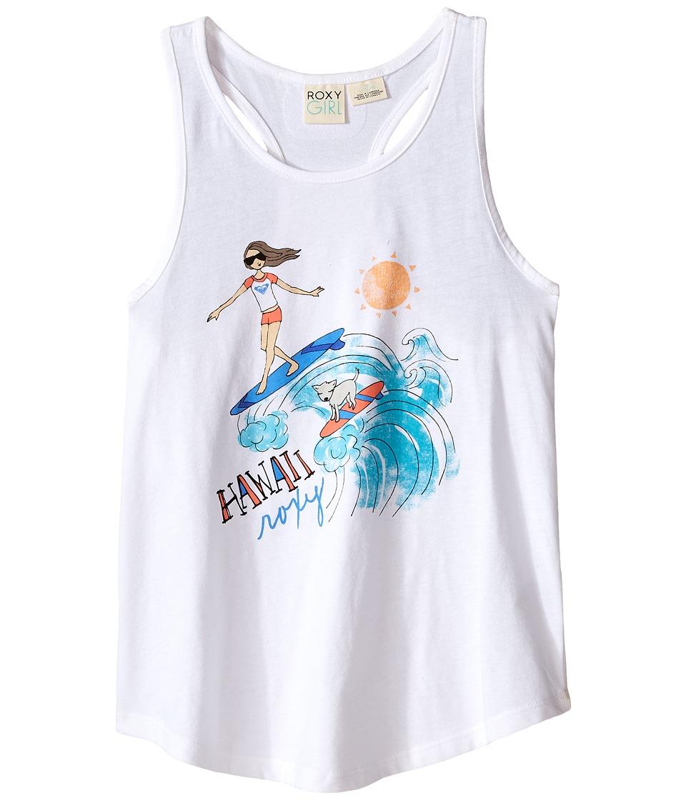Roxy Kids Surfin Pup Hawaii Tank Top Big Kids Sea Salt Girls Sleeveless