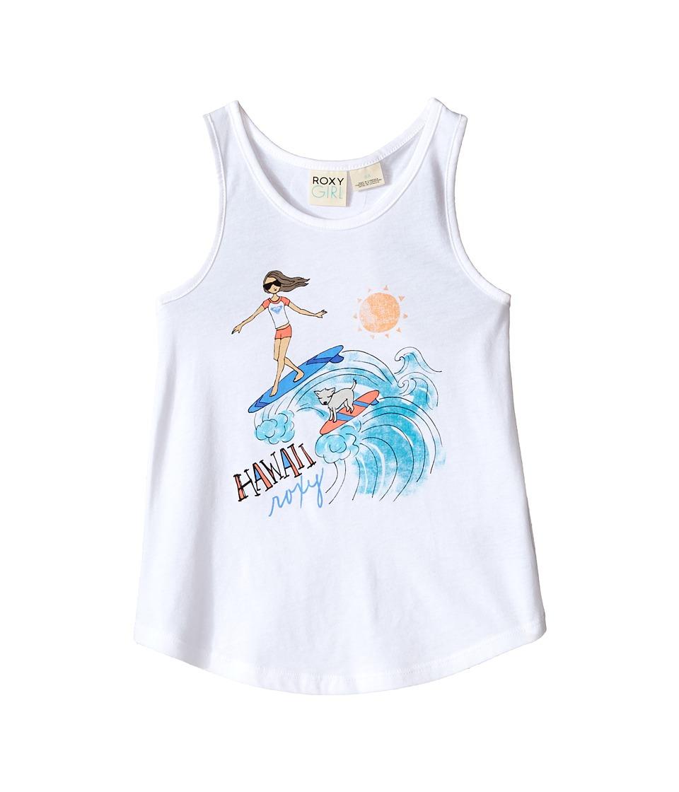Roxy Kids Surfin Pup Hawaii Tank Top Toddler/Little Kids Sea Salt Girls Sleeveless