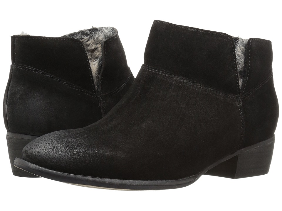 Seychelles Snare Cozy (Black Suede/Fur) Women
