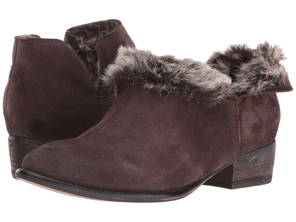 Seychelles Snare Cozy (Dark Brown Suede/Fur) Women