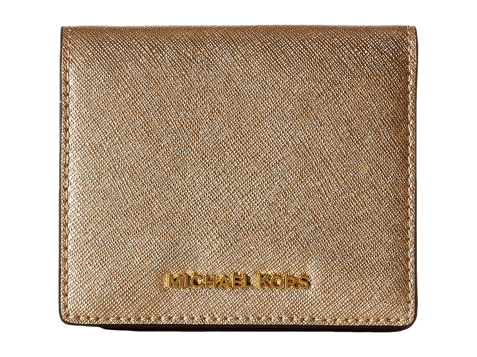 MICHAEL Michael Kors - Jet Set Travel Carryall Card Case (Pale Gold) Credit card Wallet
