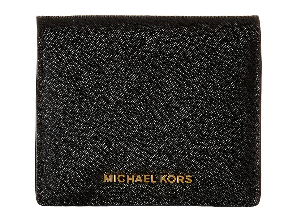 MICHAEL Michael Kors - Jet Set Travel Carryall Card Case (Black) Credit card Wallet