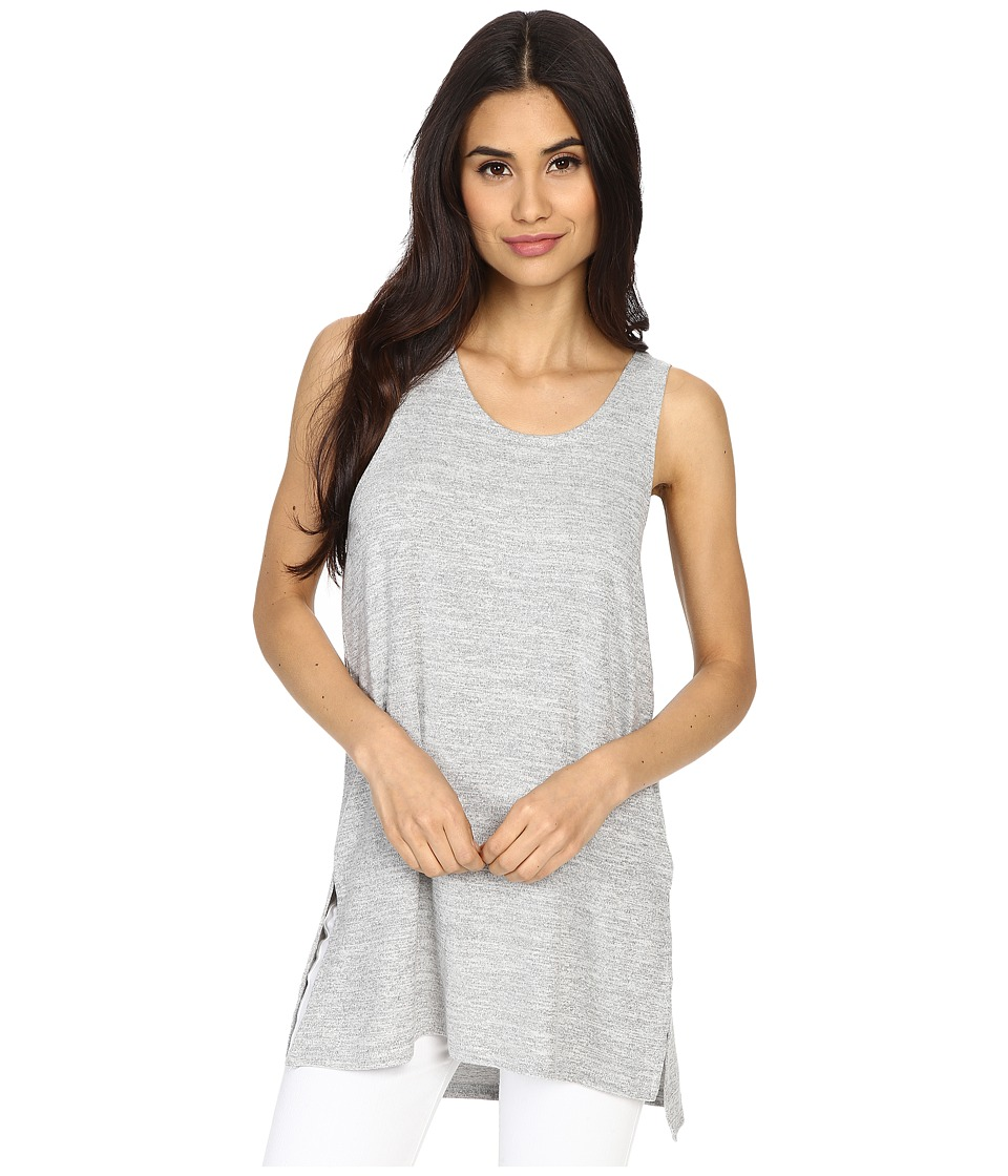 Culture Phit Abbey Tank Top with Side Slits Silver Womens Sleeveless
