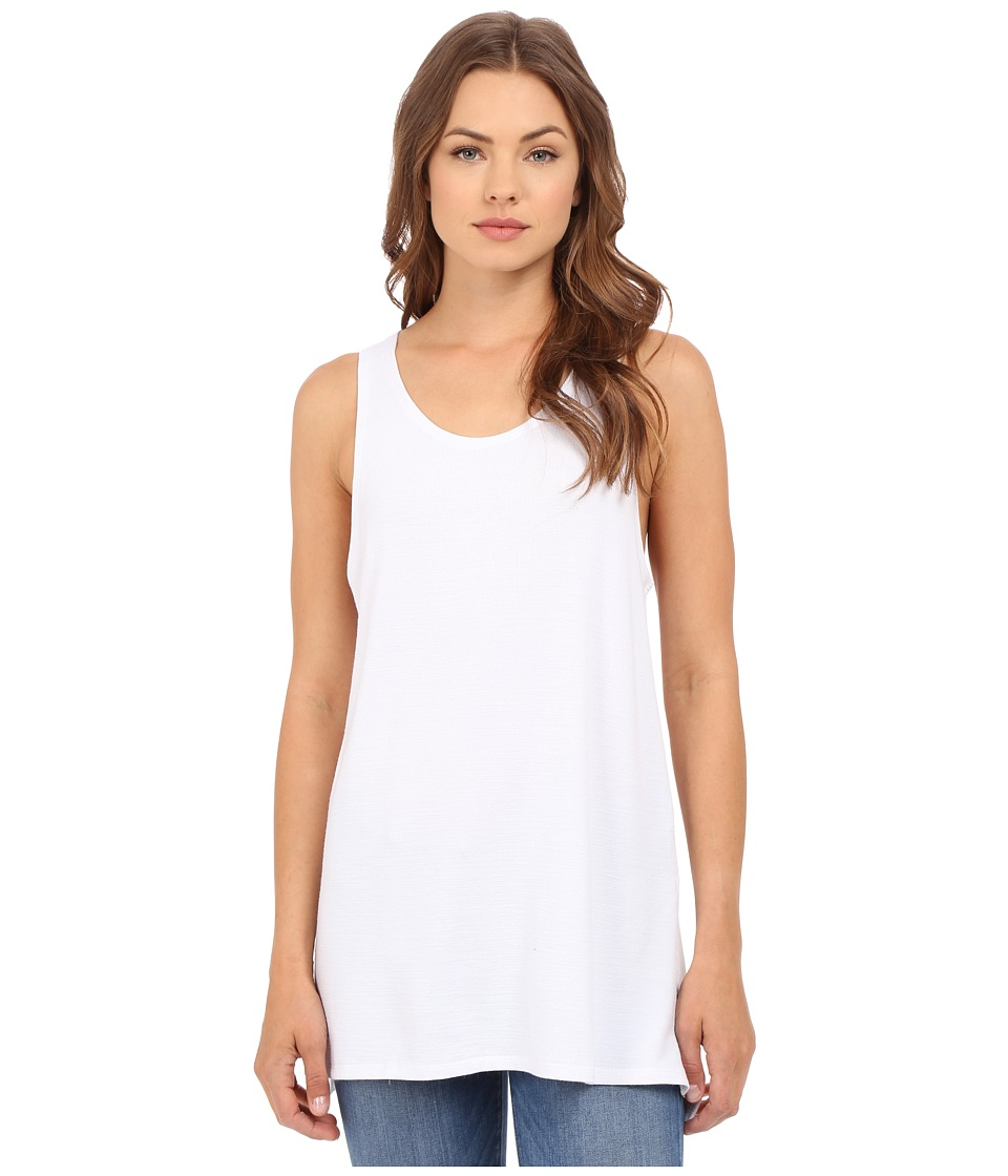 Culture Phit Abbey Tank Top with Side Slits White Womens Sleeveless