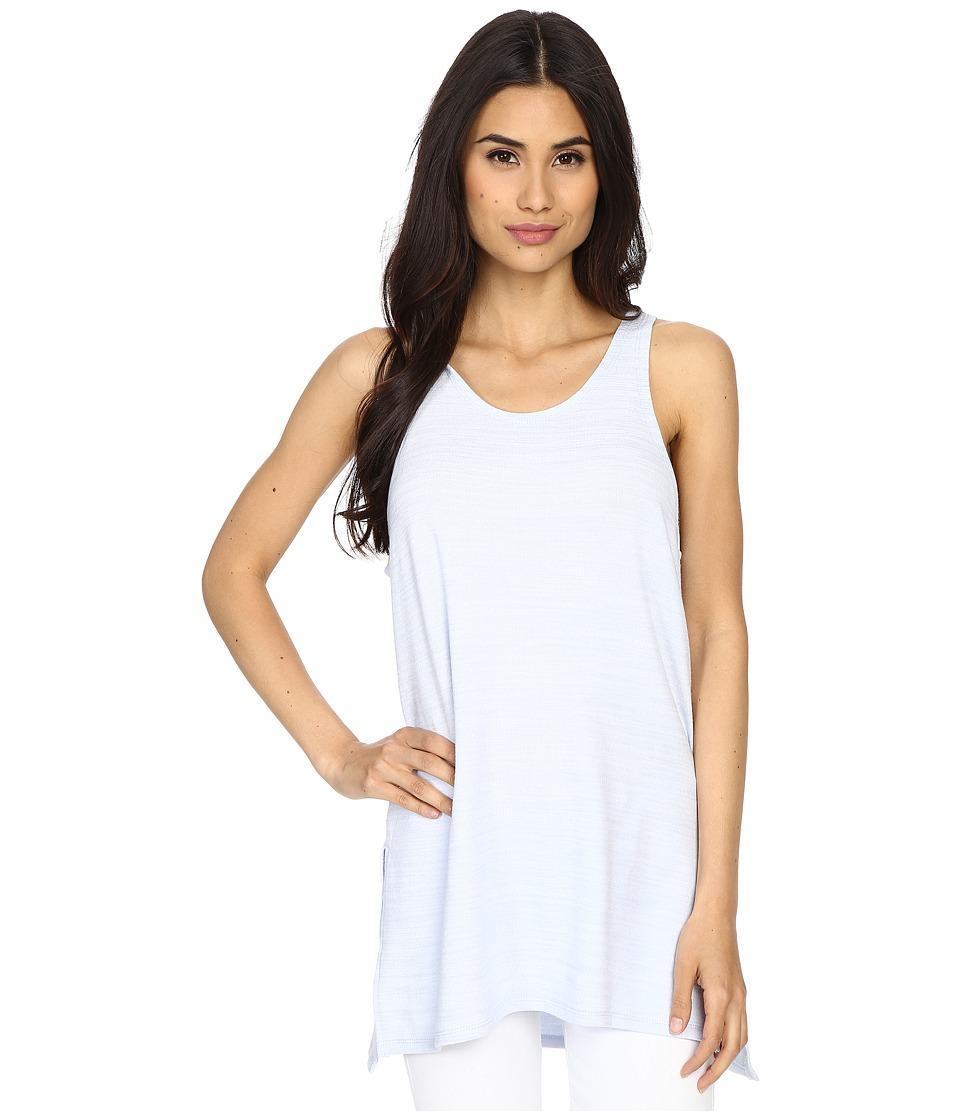Culture Phit Abbey Tank Top with Side Slits Baby Blue Womens Sleeveless