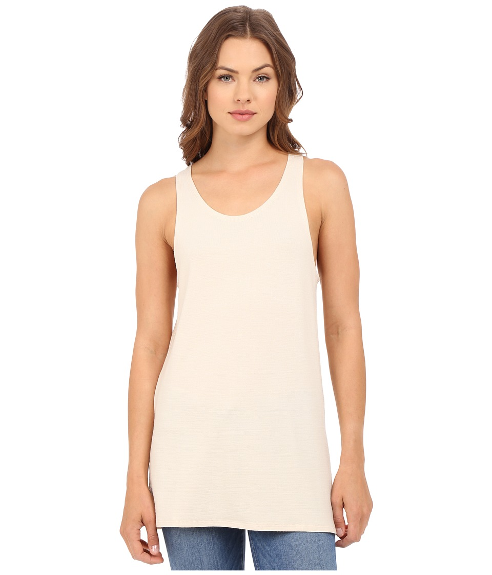 Culture Phit Abbey Tank Top with Side Slits Sand Womens Sleeveless