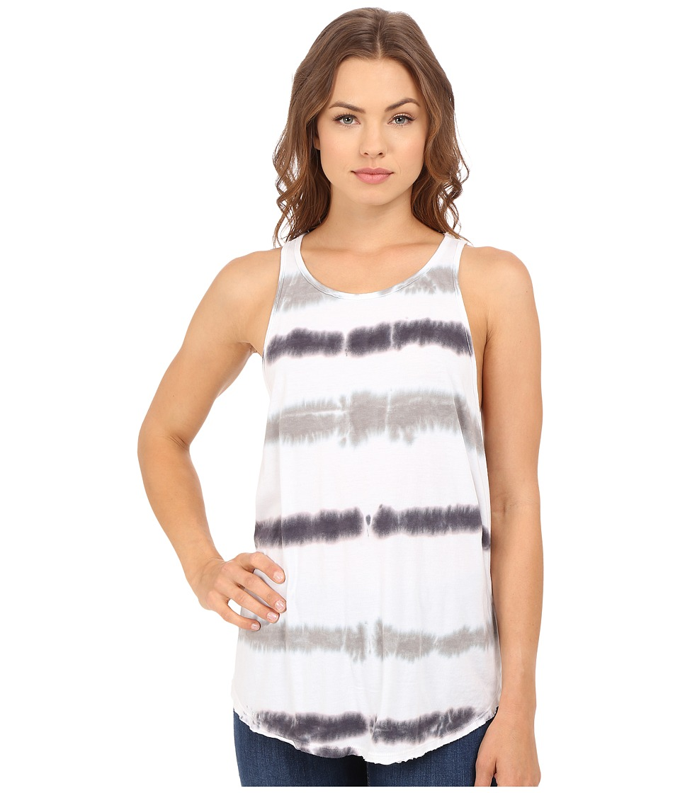 Culture Phit Abrielle Sleeveless Tie Dye Tank Top White/Taupe Womens Sleeveless