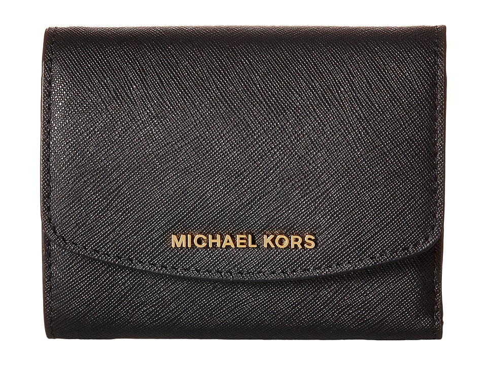MICHAEL Michael Kors - Ava Carryall Card Case (Black) Credit card Wallet