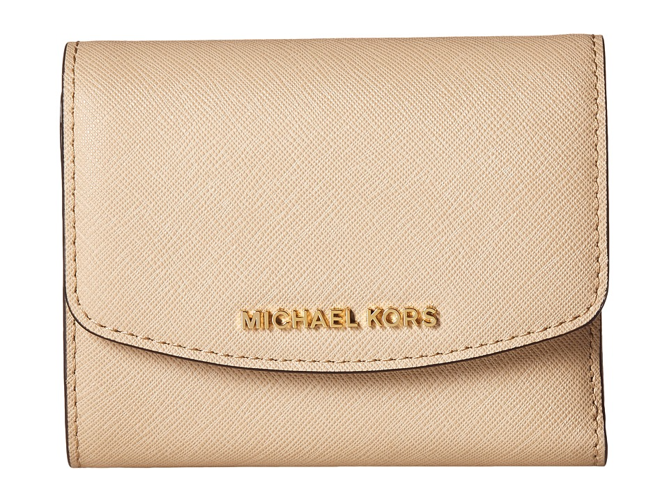 MICHAEL Michael Kors - Ava Carryall Card Case (Bisque) Credit card Wallet