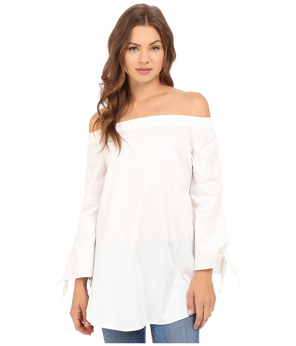Brigitte Bailey Briana Off the Shoulder 3/4 Sleeve Top White Womens Blouse
