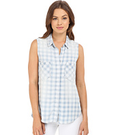 Brigitte Bailey - Braylee Sleeveless Plaid Button Up Top