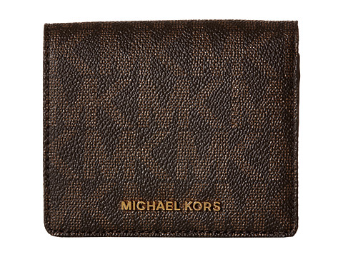 MICHAEL Michael Kors Jet Set Travel Carryall Card Case - Brown
