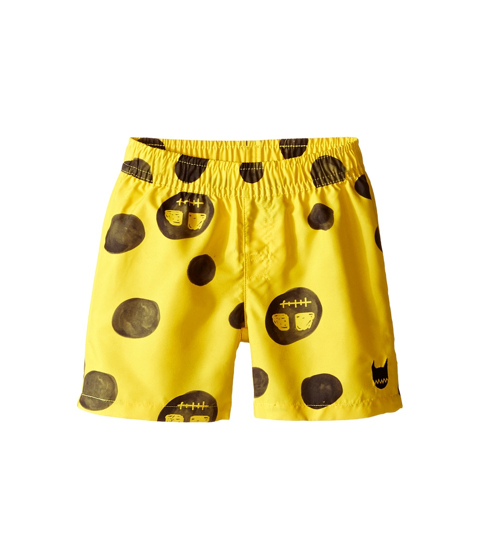 Munster Kids Faces Boardshorts Infant Yellow Boys Swimwear
