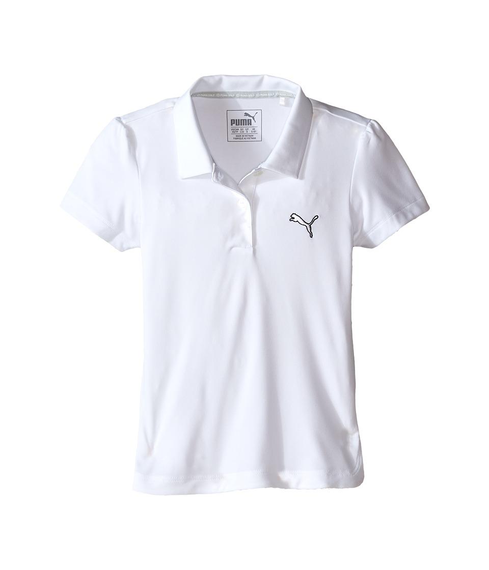 PUMA Golf Kids Pounce Polo JR Little Kids/Big Kids Bright White Girls Clothing