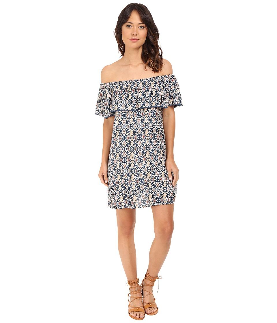 Brigitte Bailey Bristol Ruffle Top Dress Blue Womens Dress